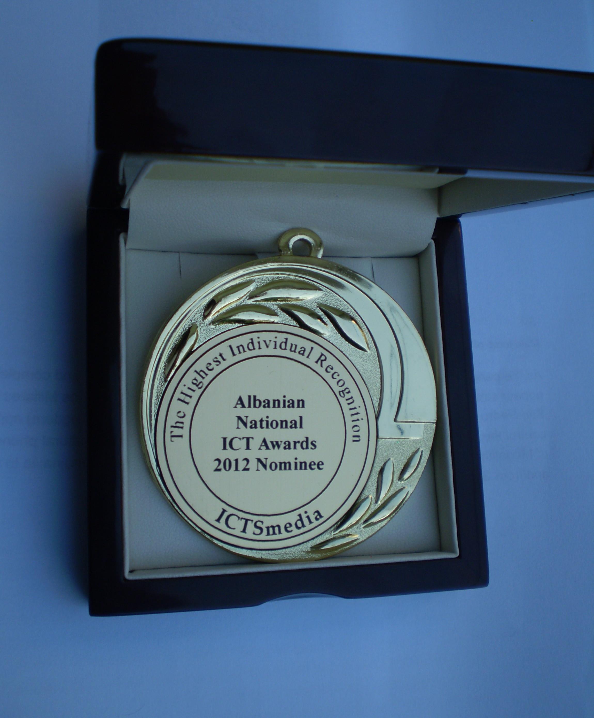 Medalja e fituar ne konkursin e ICT